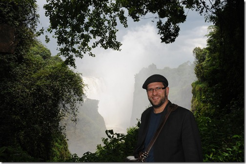 Here I am at Victoria Falls (Mosi-oa-Tunya) on the Zimbabwean side