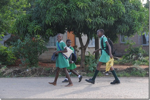 Schoolchildren in Zimbabwe