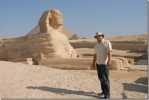 Here I am at the Great Sphinx in Giza, Egypt