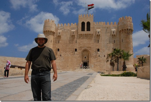 Author at the Citadel of Qaitbay, Alexandria, Egypt