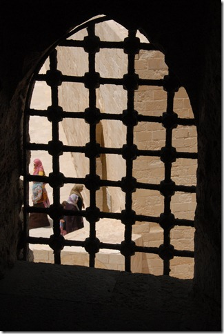 View from a window of the Citadel of Qaitbay