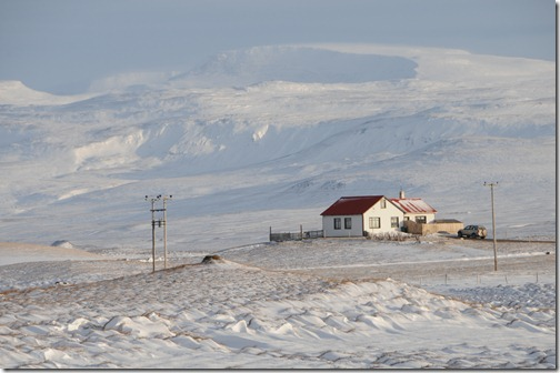 Isolated Home in the Icelandic Countryside