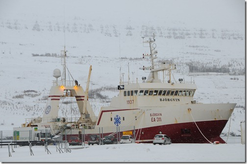 Ship in Akureyri, Iceland