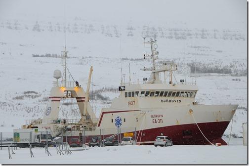 Ship in Akureyri, Iceland