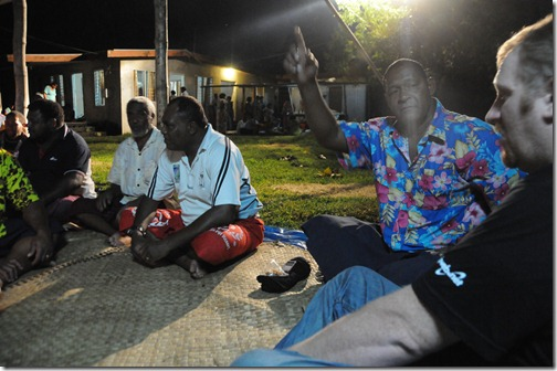 Sitting with the elders in the village of Vatutu