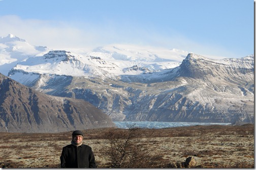Glacier and Mountains in Iceland Near the Eyjafjallajökull Volcano that Would Later Erupt