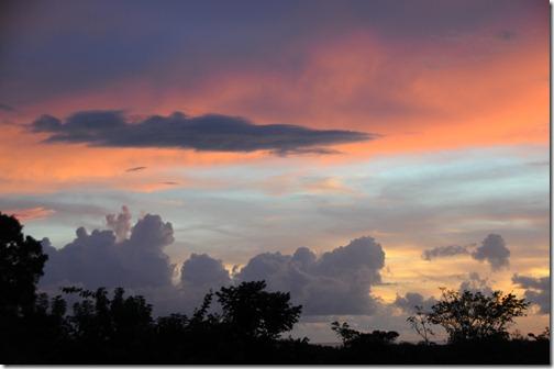 Sunset over Fiji
