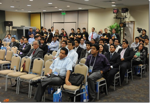 Peruvian SharePoint Conference 2010 - Note the translation booth in the back of the room