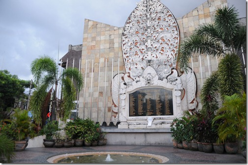 Memorial to the victims of the 2002 Bali Bombings in Kuta, Denpasar, Bali