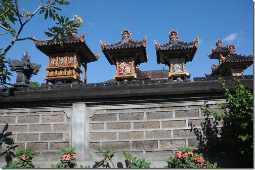 An example of a pura (Hindu temple) within the confines of a home in Bali