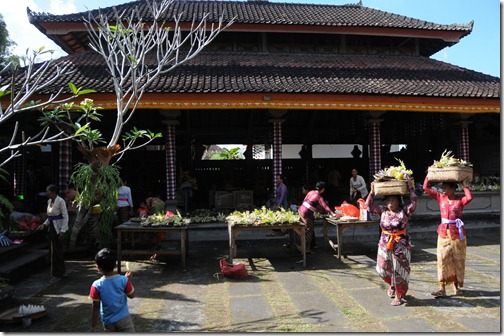 Inside the Outer Sanctuary of a Balinese Pura (Temple)