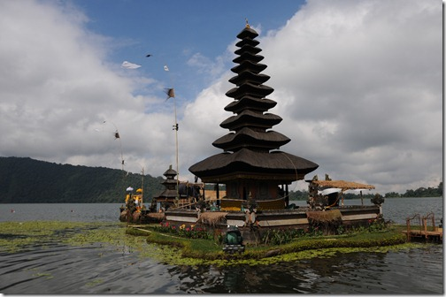 Ulun Danu Temple complex at Lake Bratan