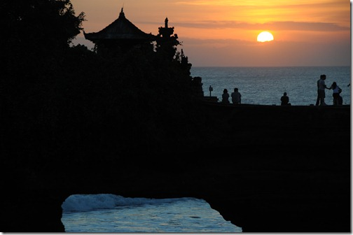 Sunset over Tanah Lot, Bali