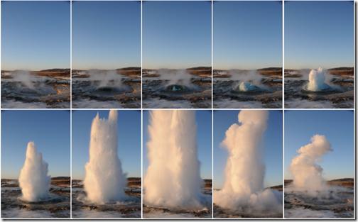 Strokkur Geyser Eruption Sequence