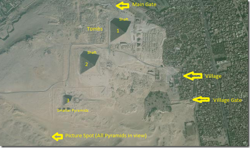 Aerial Map of Giza Necropolis