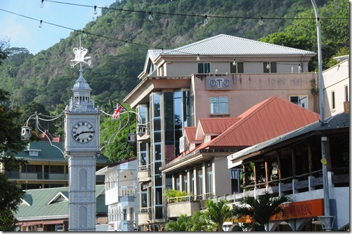 Victoria Clocktower (Lorloz) in the center of Victoria, Seychelles