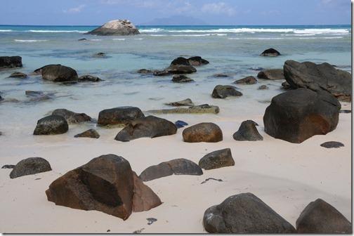 Granite boulders on Beau Vallon Beach, Mahé Island, Seychelles