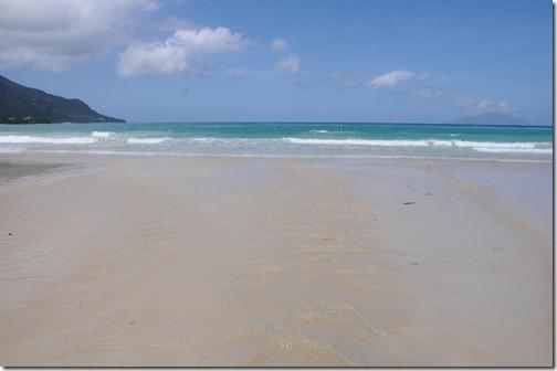 White sand on Beau Vallon Beach, Mahé Island, Seychelles