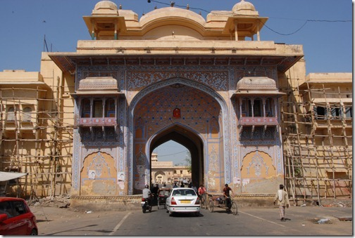 Jaipur city wall gate, Rajasthan, India