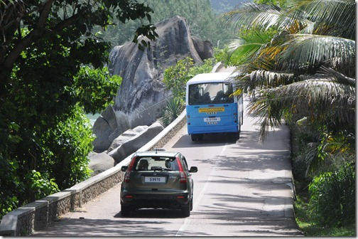 Driving the roads of Mahé Island, Seychelles