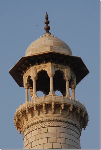 Top of a minaret at the Taj Mahal in Agra, Uttar Pradesh, India