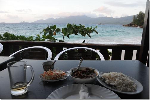 Dinner at Anse Soleil Cafe, Western Mahé Island, Seychelles