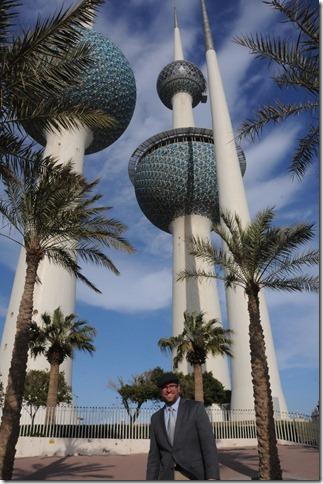 Self-portrait at the Kuwait Towers, Kuwait City, Kuwait