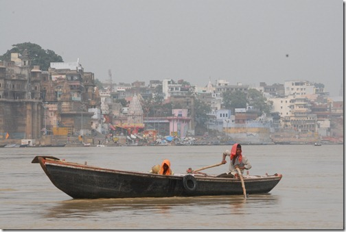 Boat on the Ganges River, Varanasi, India