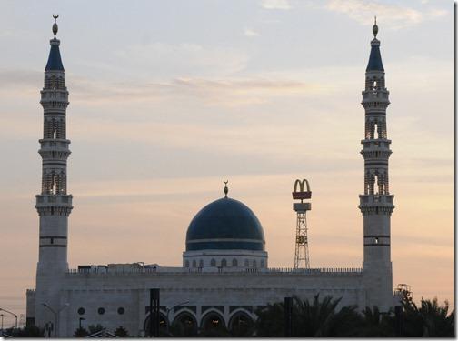 Jassim Al-Wazzan Mosque and McDonalds sign, Kuwait City, Kuwait
