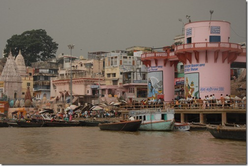 Ghats along the Ganges River in Varanasi, India