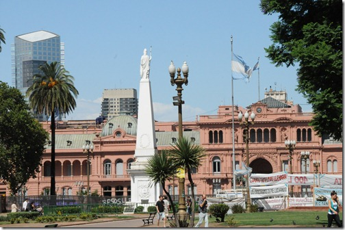 The Casa Rosada (Pink House) of Buenos Aires, used as the official executive mansion of Argentina, equivalent to the US White House.