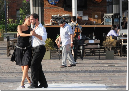Street tango performance in the Puerto Madero district of Buenos Aires, Argentina.