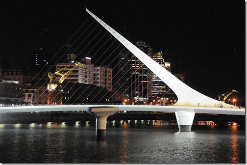 Puente de la Mujer (Woman's Bridge) in the Puerto Madero district, Buenos Aires, Argentina
