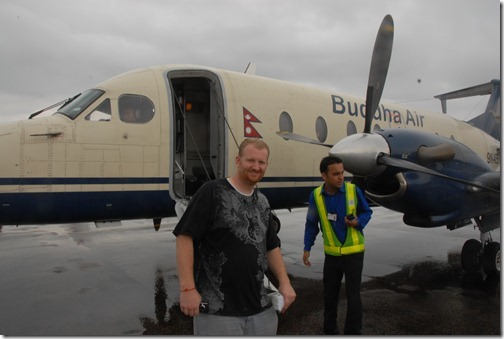 Boarding Buddha Air Flight 201, Sightseeing flight to Mount Everest, Nepal