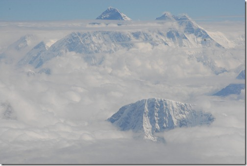 Mount Everest as viewed from Buddha Air Flight 201, sightseeing flight to Mount Everest, Nepal