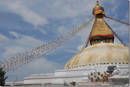 The Sacred Buddhist Boudhanath Stupa near Kathmandu, Nepal