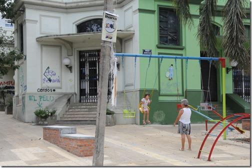 Street scene in Montevideo, Uruguay