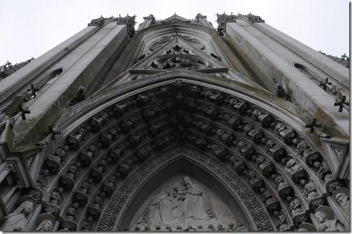 The gothic but run down Iglesia Las Carmelitas in the Prado barrio, Montevideo, Uruguay