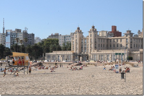 Riverfront beaches along the Rambla, Montevideo, Uruguay