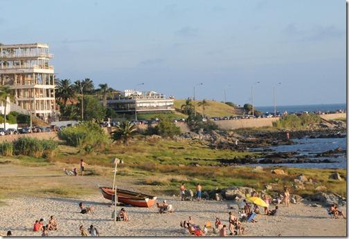 Riverfront beaches along the Rambla, Montevideo, Uruguay