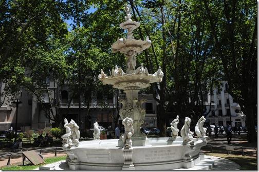 Fountain in the Plaza de la Constitución, Montevideo, Uruguay