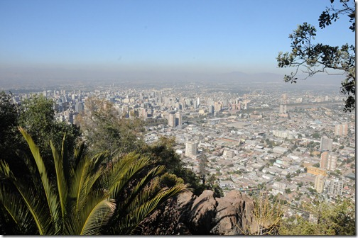 View of Santiago from Cerro San Cristóbal in Chile