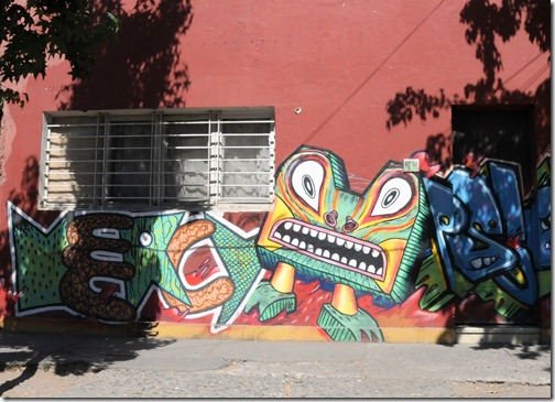 Street murals in Santiago, Chile