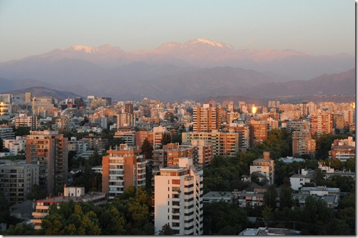View of Santiago de Chile from the 14th floor rooftop terrace of the Universidad DUOC, our conference venue in Santiago, Chile