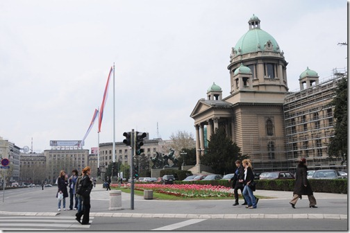 National Assembly Building in Belgrade, Serbia