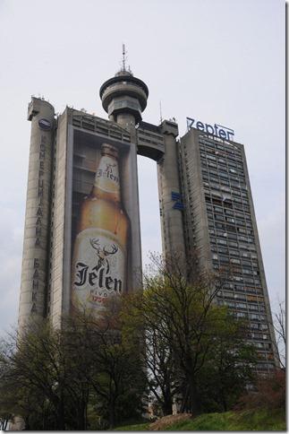 Genex Tower (Western City Gate) near Belgrade, Serbia
