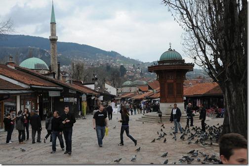 Sebilj (Water Fountain) in Baščaršija Square, Sarajevo, Bosnia-Herzegovina