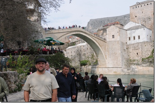 Self-portrait at Stari Most (Old Bridge) in Mostar, Bosnia-Herzegovina