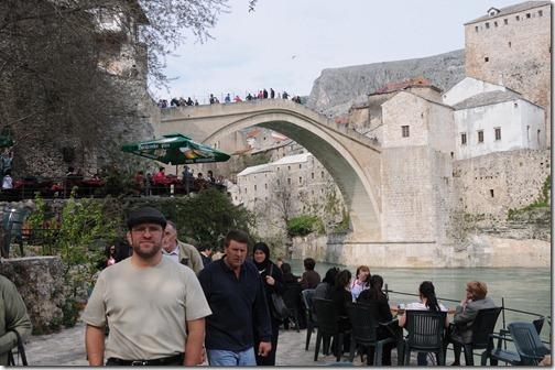 Self-portrait at Stari Most (Old Bridge) in Mostar, Bosnia-Herzegovina