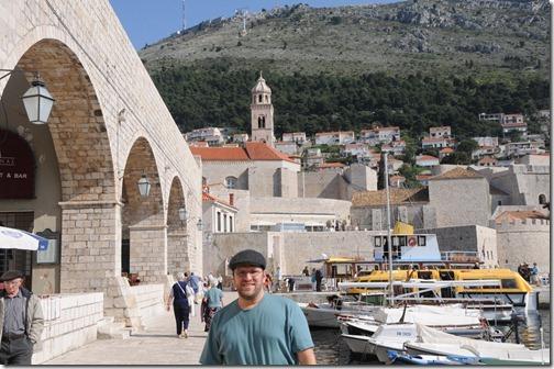 Self-portrait at the Marina in Dubrovnik, Croatia